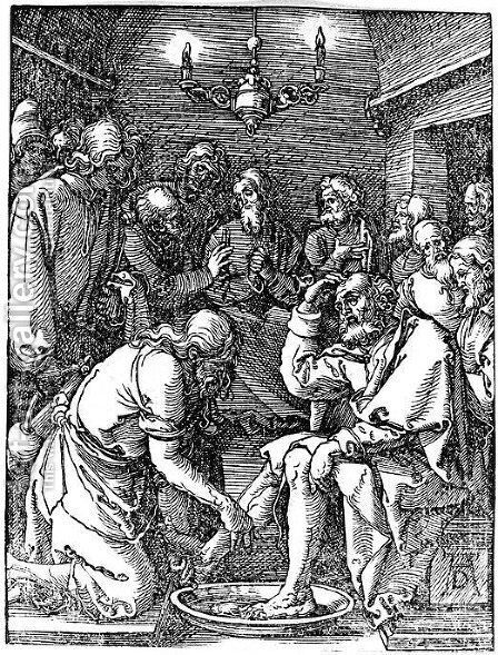 Christ Washing the Feet of St. Peter by Albrecht Durer - Reproduction Oil Painting