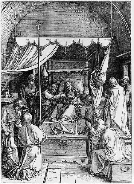Death of the Virgin by Albrecht Durer - Reproduction Oil Painting