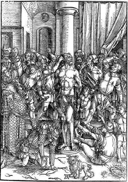 Flagellation by Albrecht Durer - Reproduction Oil Painting