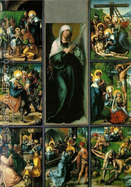 Full view 3 by Albrecht Durer - Reproduction Oil Painting