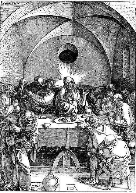 Last Supper 2 by Albrecht Durer - Reproduction Oil Painting
