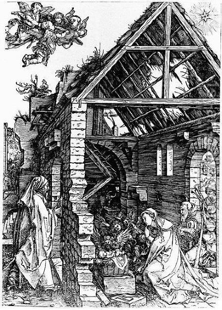 Nativity 3 by Albrecht Durer - Reproduction Oil Painting