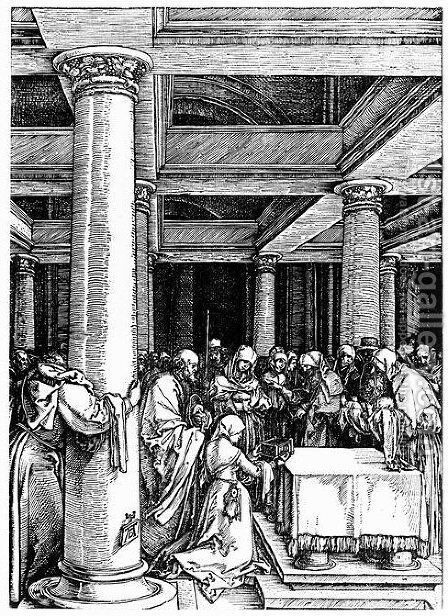 Presentation of Christ at the Temple by Albrecht Durer - Reproduction Oil Painting