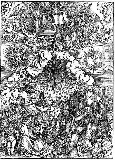 The Opening of the Fifth and Sixth Seals by Albrecht Durer - Reproduction Oil Painting