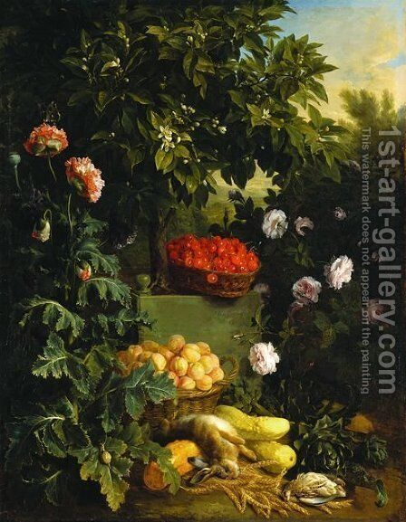 Still Life (Summer) by Alexandre-Francois Desportes - Reproduction Oil Painting