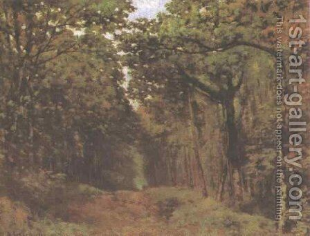 Avenue of Chestnut Trees Near Le Celle St. Cloud by Alfred Sisley - Reproduction Oil Painting