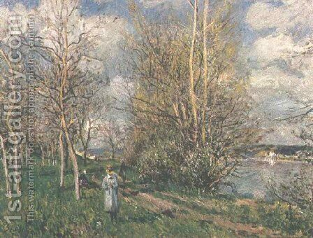 Small Meadows in the Spring by Alfred Sisley - Reproduction Oil Painting
