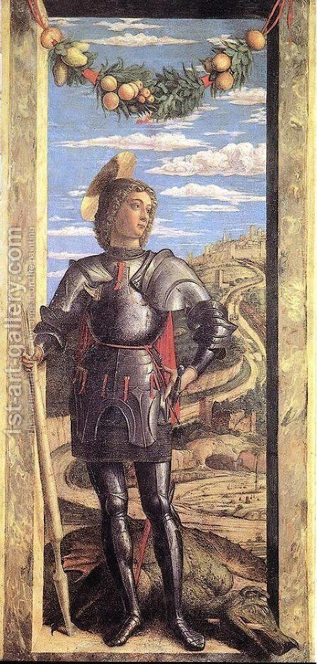 St George by Andrea Mantegna - Reproduction Oil Painting