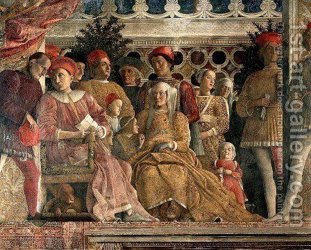 The Court of Mantua by Andrea Mantegna - Reproduction Oil Painting