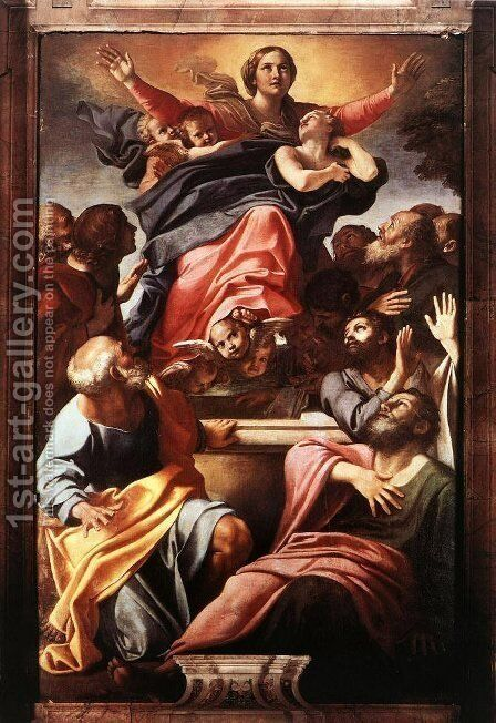 Assumption of the Virgin Mary by Annibale Carracci - Reproduction Oil Painting