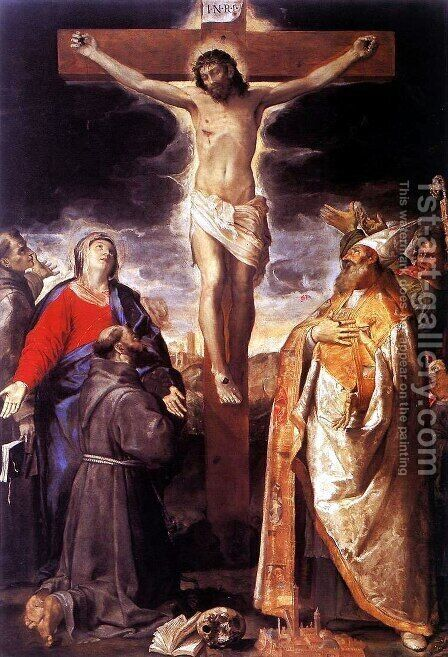 Crucifixion by Annibale Carracci - Reproduction Oil Painting