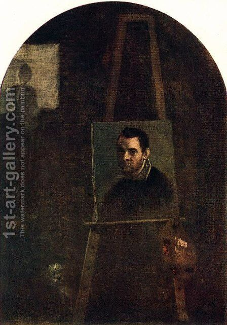 Self Portrait 2 by Annibale Carracci - Reproduction Oil Painting