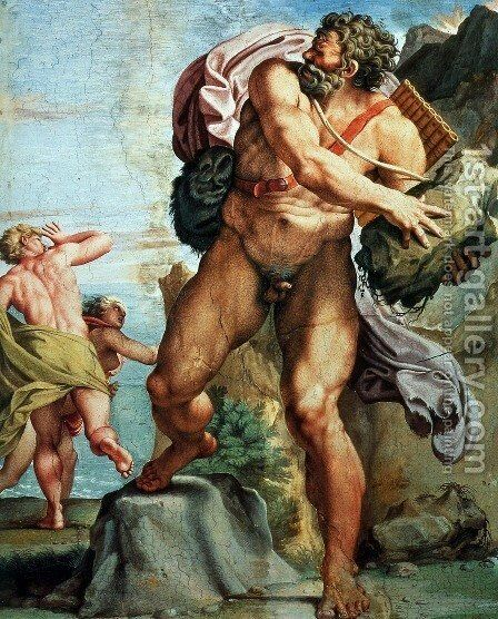 The Cyclops Polyphemus by Annibale Carracci - Reproduction Oil Painting