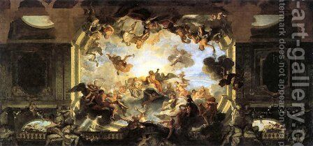 Assembly of Gods by Antoine Coypel - Reproduction Oil Painting