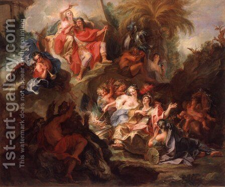 Louis XIV in Glory After the Peace of Nijmegen by Antoine Coypel - Reproduction Oil Painting