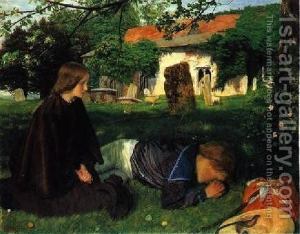 Home from the Sea by Arthur Hughes - Reproduction Oil Painting