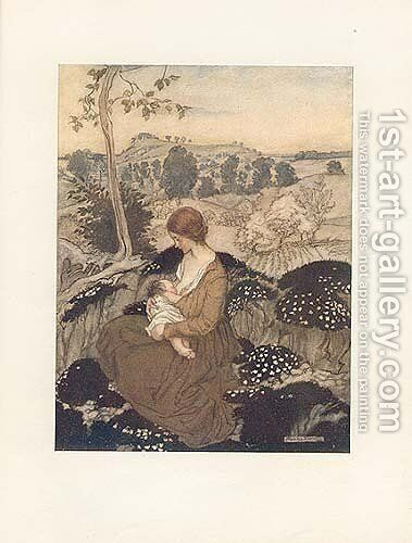 ... a flower of bliss, beyond all blessing Blest by Arthur Rackham - Reproduction Oil Painting