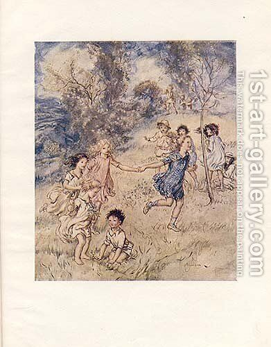... the paths of spring by Arthur Rackham - Reproduction Oil Painting