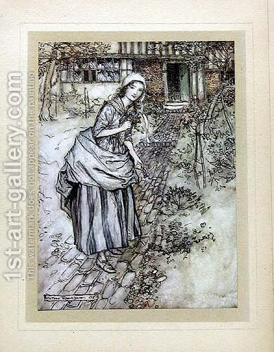 Maidens call it love-in-idleness by Arthur Rackham - Reproduction Oil Painting