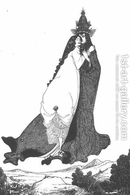 The Ascention of St Rose of Lima by Aubrey Vincent Beardsley - Reproduction Oil Painting