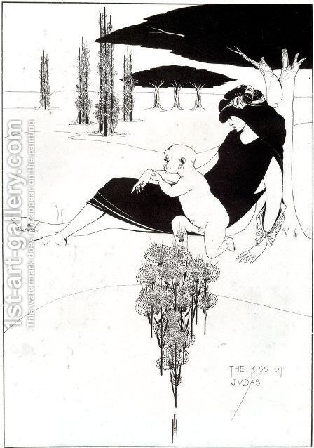 The Kiss of Judas by Aubrey Vincent Beardsley - Reproduction Oil Painting