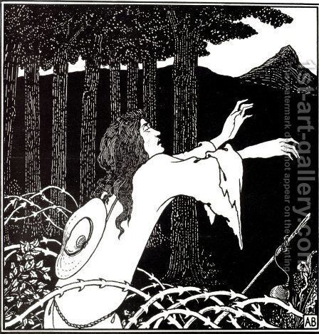 The Return of Tannhäuser to the Venusberg by Aubrey Vincent Beardsley - Reproduction Oil Painting