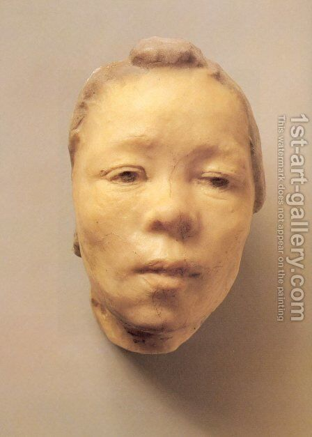 Mask of Hanako, the Japanese Actress by Auguste Rodin - Reproduction Oil Painting