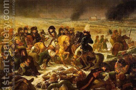 Napoleon on the Battlefield  of Eylau on 9 February 1807 by Antoine-Jean Gros - Reproduction Oil Painting
