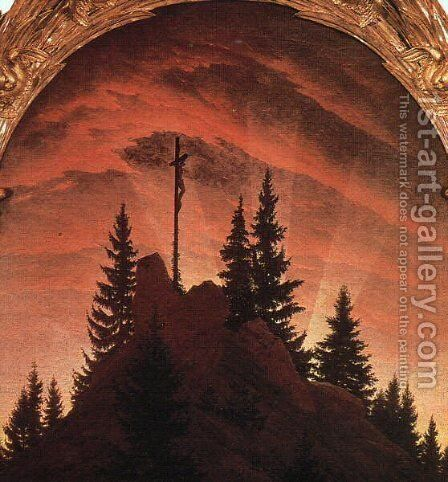 The Cross in the Mountains by Caspar David Friedrich - Reproduction Oil Painting
