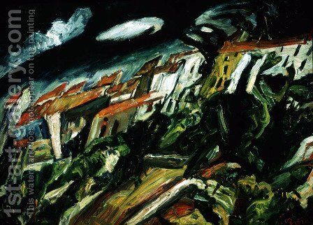 View of Ceret by Chaim Soutine - Reproduction Oil Painting