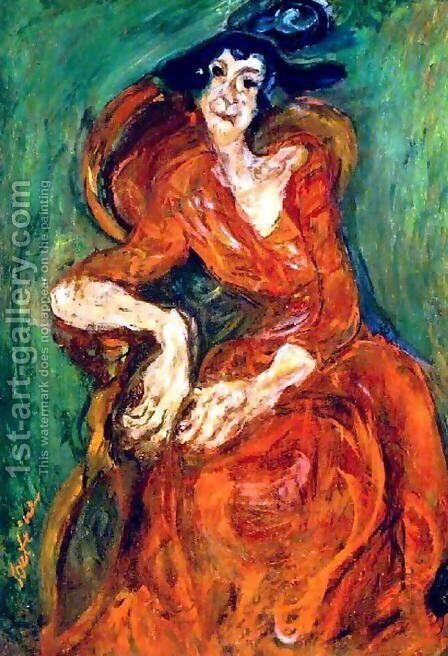 Woman in Pink by Chaim Soutine - Reproduction Oil Painting