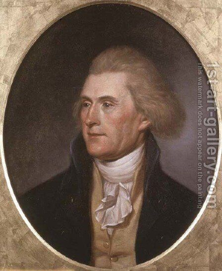 Portrait of Thomas Jefferson by Charles Willson Peale - Reproduction Oil Painting