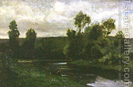 On the Oise by Charles-Francois Daubigny - Reproduction Oil Painting