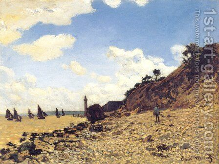 Beach at Honfleux by Claude Oscar Monet - Reproduction Oil Painting