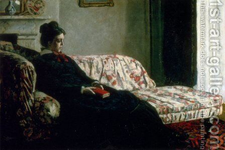 Meditation (Madame Monet On The Sofa) by Claude Oscar Monet - Reproduction Oil Painting