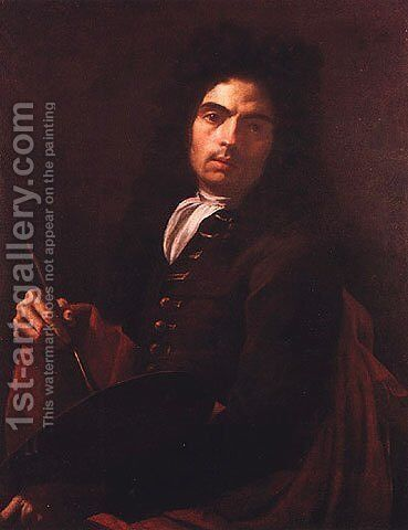 Self Portrait by Corrado Giaquinto - Reproduction Oil Painting