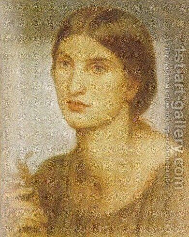 Study of a Girl 2 by Dante Gabriel Rossetti - Reproduction Oil Painting