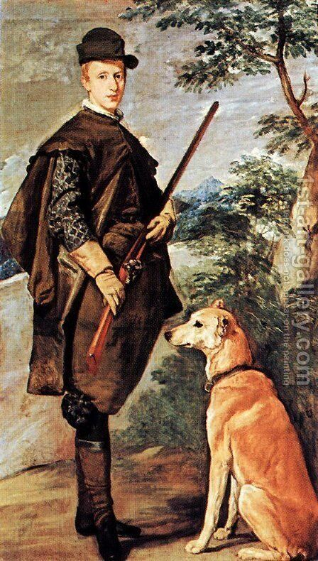 Cardinale Infante Ferdinand of Austria as Hunter by Velazquez - Reproduction Oil Painting
