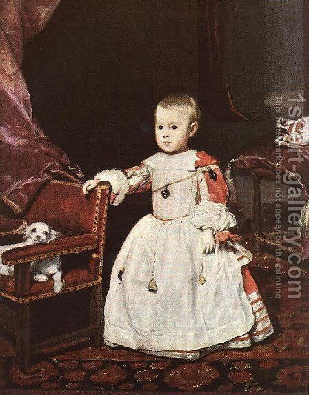 Infante Philip Prosper by Velazquez - Reproduction Oil Painting