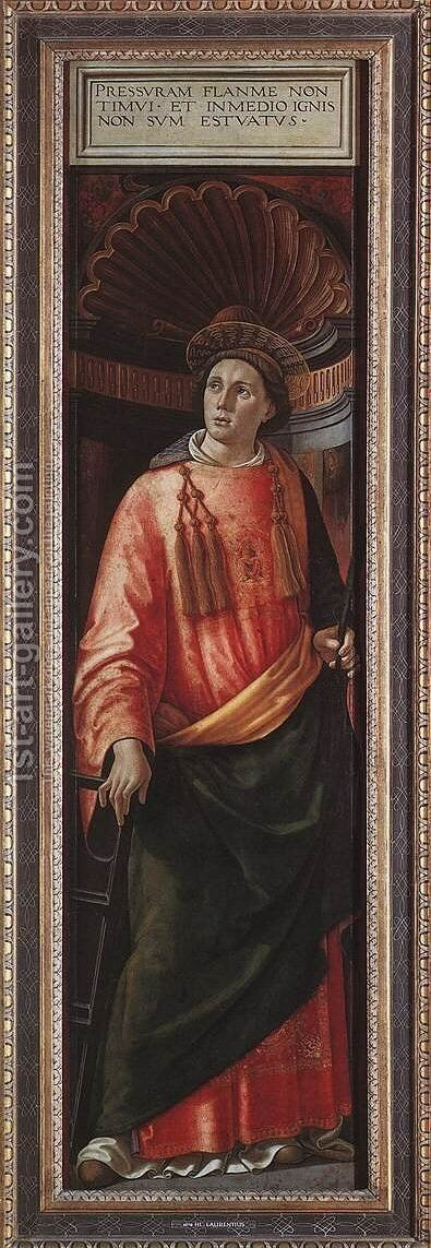 St Lawrence by Domenico Ghirlandaio - Reproduction Oil Painting