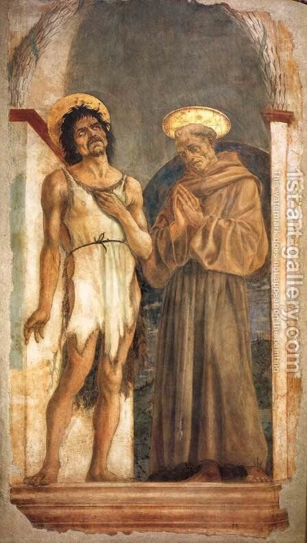 St John the Baptist and St Francis by Domenico Veneziano - Reproduction Oil Painting