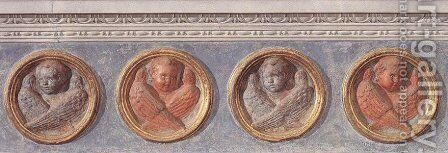Putti of the trabeation by Donatello - Reproduction Oil Painting