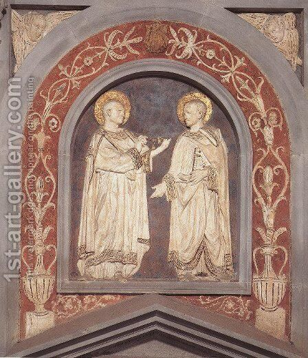 St Cosmas and St Damian by Donatello - Reproduction Oil Painting
