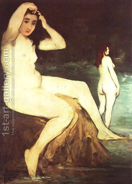 Bathers on the Seine by Edouard Manet - Reproduction Oil Painting
