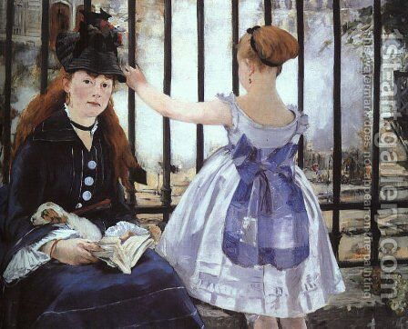 La Gare by Edouard Manet - Reproduction Oil Painting