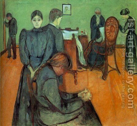 Death in the Sick-Room by Edvard Munch - Reproduction Oil Painting