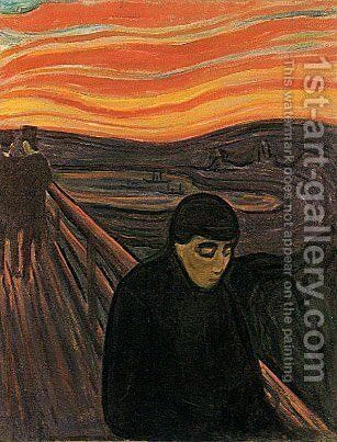 Despair by Edvard Munch - Reproduction Oil Painting