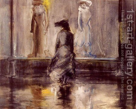 Window Shopping by Everett Shinn - Reproduction Oil Painting