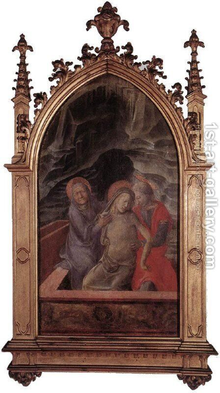 Pietà by Fra Filippo Lippi - Reproduction Oil Painting
