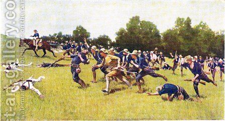 Charge Up San Juan Hill by Frederic Remington - Reproduction Oil Painting